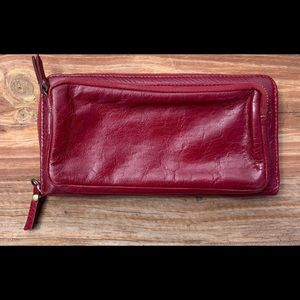 Latico red leather wallet